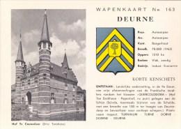 Wapenkaart Nr 163 Deurne Hof Te Couwelaer Drie Torekens( Met Wapenschild ) - Antwerpen
