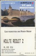 France, Paris. Ticket Boat. Vedettes du Pont-Neuf. 2005