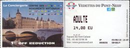 France, Paris. Ticket Boat. Vedettes du Pont-Neuf. 2015
