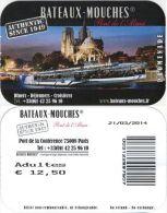 France, Paris. Ticket Boat. Bateaux-Mouches. 2014