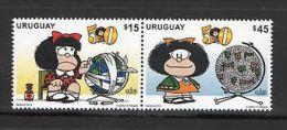 Mafalda Satirical Cartoon World Health Medicine Thermometer URUGUAY MNH STAMP - Cinema