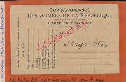 CARTE EN FRANCHISE  CORRESPONDANCE DES ARMEE DE  LA REPUBLIQUE  Militaria     MAI  2015  SAL 1141 - Marcophilie (Lettres)