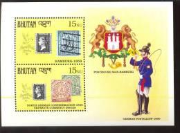 MNH BHUTAN # 906 : SOUVENIR SHEET STAMPS OLD STAMPS ; PENNY BLACK ; POSTAL HISTORY - Bhutan