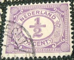 Netherlands 1899 Numeral 0.5c - Used - Gebruikt