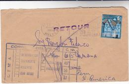 1966 MALTA To PERU Boxed RETOUR COREO DEL PERU  RETURNED TO SENDER Post Marking Stamps - Peru