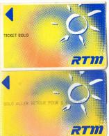 TICKETS BUS  FRANCE  RTM  Marseille  (Lot de 2)  N