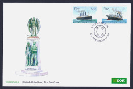 """2015 IRELAND """"CENTENARY OF WORLD WAR I / THE LOSS OF RMS LUSITANIA"""" FDC - FDC"""