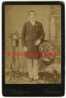 En Argentine Vers 1890 -Fotographia Oriental-grand CDV (cab)-beau Portrait D´un Homme élégant-par C. Rodriguez à Rosario - Photos