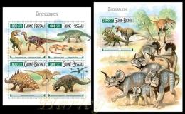 gb15505ab Guinea Bissau 2015 Dinosaurs 2 s/s
