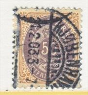 DENMARK   51 B    (o)  Wmk 113 - 1864-04 (Christian IX)