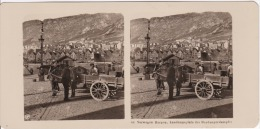 Stereofoto (photo Stéréo) 66 Norwegen -Bergen, Landungsplatz Der Hardangerdampfer- - Fotos Estereoscópicas