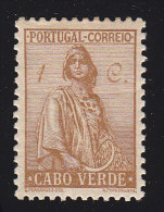 CAPR VERDE - Scott #215 Ceres (*) / Mint H Stamp - Isola Di Capo Verde