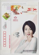 Diamond Ring,Movie Film Star Zhang Manyu,jewelry,China 2006 Ming Brand Jewellery Advertising Pre-stamped Card - Actors