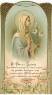 """IMAGE PIEUSE HOLY Card Santini : """" Ô Vierge Sainte """" Souvenir Georgette CLAVEL St André De Roquelongue - Devotion Images"""
