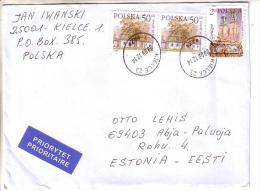 GOOD POLAND Postal Cover To ESTONIA 2012 - Good Stamped: Architecture - 1944-.... Republic