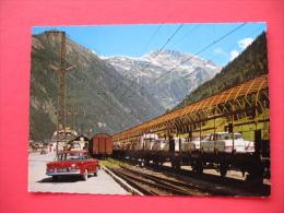 Autoverladung Mallnitz Tauerntunnel,AUTO MERCEDES S 15-092 - Eisenbahnen