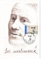 FRANCE - 6 Cartes Maximum - Série Des Ecrivains - 1991 - René Char, Aragon, Prévert, Breton, Eluard, Ponge. - Escritores