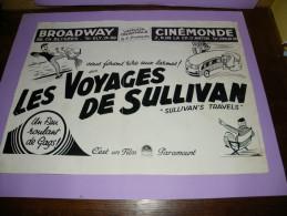 CINEMA : AFFICHE : LES VOYAGES DE SULLIVAN ( SULLIVAN ' S TRAVELS ) - Posters