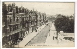 CPA BERCK (Pas De Calais) - L'Avenue De La Gare - Berck