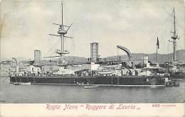 "- Ref G95 - Bateaux De Guerre -  Bateau Regia Nave "" Ruggero Di Lauria "" -  Carte Bon Etat - - Guerre"
