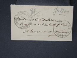FRANCE-GUAYANNE-Petite Enveloppe De Cayenne Pour St Laurent De Maroni En 1938     A Voir  Rare  Lot P 5605 - Guyane Française (1886-1949)
