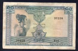 LAOS, 10 Kip 1962 - Laos