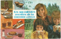Livre De Recettes De Cuisine Chicorée LEROUX - Publicités
