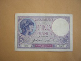 Billet De 5 Francs Du 15-1-1918 - 1871-1952 Anciens Francs Circulés Au XXème