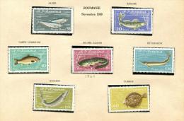 (cl 98 Bis) Roumanie** N° 1741 à 1747 - Poissons Divers - Alose, Sandre, Carpe, Silure, Esturgeon, Huchon, Turbot - Unused Stamps