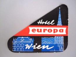HOTEL INN HOF HOUSE ATLANTA WIEN VIENNA VIENNE VIENA AUSTRIA OSTERREICH DECAL STICKER LUGGAGE LABEL ETIQUETTE AUFKLEBER - Hotel Labels