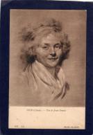 MUSEE  DE DIJON   - HOIN  (Claude)  - Portrait De Monvel Tête De Jeune Femme   CPA - Pastels