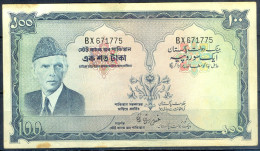B43- Bankbiljetten, Billets, Banconote. Signature Of Ghulam Ishaq Khan Pakistan Rs. 100.00 Banknote. Double Prefix. - Pakistan