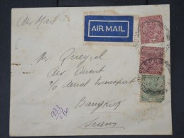 GRANDE BRETAGNE-Enveloppe En Recommandée De Rangoon Pour Bangkok Par Avion En 1932    Rare  Lot P 5610 - Burma (...-1947)