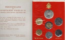 PIA - VATICANO - 1988 : Serie Monete Anno X° Pontificato Di Giovanni Paolo II - 80.000  Serie - Vatican
