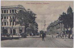 CPA OLD POSTCARD COLOMBO YORK STREET JUNCTION CEYLON SRI LANKA ED. TRAVELLERS MART - Sri Lanka (Ceylon)