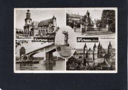 54505   Germania,  Gruss Aus  Worms A Rhein,  VG  1956 - Worms