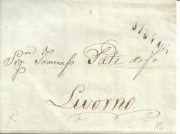 STRADA FERRATA LEOPOLDA STAZIONE DI SIGNA LINEARE  15\2\1857 PER LIVORNO BELLISSIMA LETTERA COMMERCIALE - Toscana