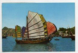 HONG KONG, China - Fishing Junk At Aberdeen  ( 2 Scans ) - Cina (Hong Kong)