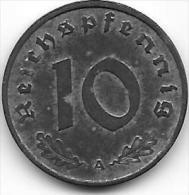 10 REICHSPFENNIG zinc 1942 A