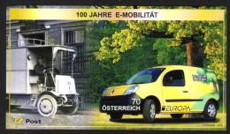 ÖSTERREICH 2013 ** Europa CEPT 2013 - 100 J. E-Mobilität, Postauto - Block MNH - Post
