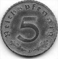 5 REICHSPFENNIG Zinc 1940 D - 5 Reichspfennig