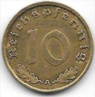 10 REICHSPFENNIG  1938 A - [ 4] 1933-1945: Derde Rijk