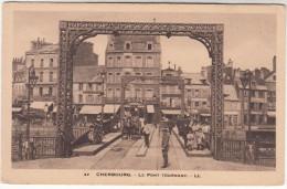 CPA Cherbourg, Le Pont Tournant, Attelage Publicité Picon (pk18884) - Cherbourg