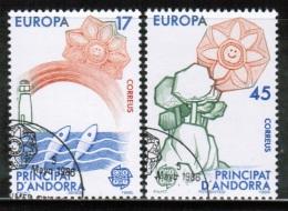 CEPT 1986 AD ES MI 188-89 USED ANDORRA SPAIN - Europa-CEPT