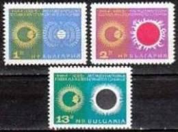 BULGARIA \ BULGARIE - 1965 - Annee Int. Du Soleil Calme - 3v** - Astronomie