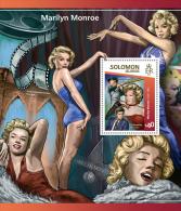 slm15105b Solomon Is. 2015 Marilyn Monroe Baseball s/s Kennedy