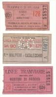LOTTO DI N. 3  BIGLIETTI TRAMVIE - BOLOGNA-PAOVA - N. 55832-46075-93955