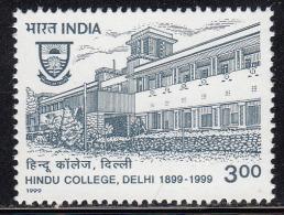 India MNH 1999. Hindu College, Delhi, Education, Lotus Flower Symbol. Tree - Inde