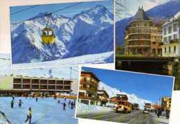38  BOURG D'OISANS Centre De Vacances OCCAJ Le Milon Et Les Deux Alpes, Teleferique, Autobus Ancien - Bourg-d'Oisans
