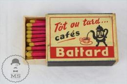 Vintage Advertising Matchbox - Cafes Battard Advertising - Cajas De Cerillas (fósforos)
